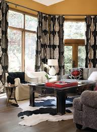 Cowhide Rug In Living Room Damask Curtains In Living Room Contemporary With Suzani Next To
