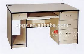 computer desktop table design classical wooden office desktop table with cpu holder and keyboard