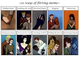 Flirting Meme - 10 ways of flirting meme by bronzewinged on deviantart