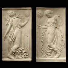 Garden Wall Plaque by Greek Goddess Pair Ancient Greek Marble Wall Relief Plaque S U0026s