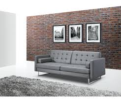 Silver Leather Sofa by Blue Leather Sofa Giovanni Bed Silver U2013 Lenspay Me