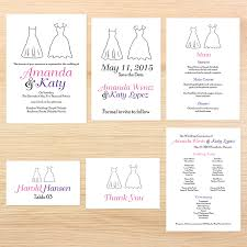 Wedding Programs Sample Lgbt Wedding Invitations Program Wedding Dress Invitations By R2