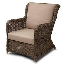 Used Armchair Patio Marvellous Plastic Wicker Patio Furniture Brown Plastic