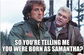 Rambo Meme - transgender trend hits hollywood first preview of next rambo