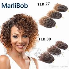 crochet braiding hair for sale 2018 hot sale 8 10inch marlibob synthetic kinky twist crochet