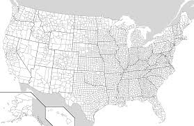 Blank Usa Map by Usa Map With Counties