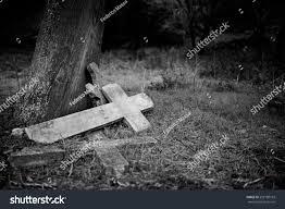 graveyard clipart black and white burial cross graveyard black white version stock photo 252180103