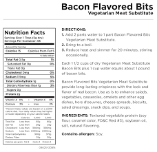 augason farms bacon bits vegetarian meat substitute 9 8 oz can