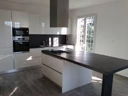 credence cuisine blanc laqué cuisine blanc laqué et noir photos de design d intérieur et