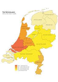 The Netherlands Map Netherlands Density U2022 Mapsof Net