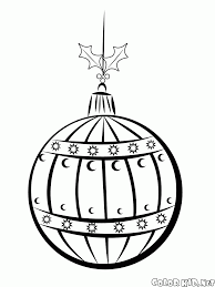 coloring page christmas bell