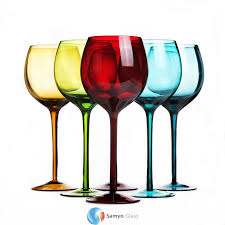 cheap wholesale antique italian home goods colored wine glasses