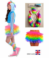 Unicorn Halloween Costume For Kids by Kids Rainbow Magical Unicorn Girls Halloween Fancy Dress Tutu