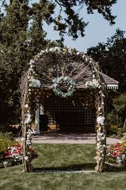 wedding arch kelowna rad guisachan house wedding abigail eveline photography