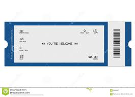 blank event ticket template