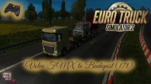 volvo vnl 780 blue truck farming simulator 2017 2015 15 17 euro truck simulator 2 volvo fmx to budapest 17t youtube