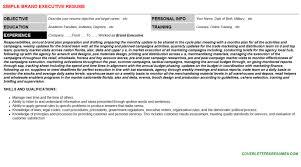 brand executive cover letter u0026 resume