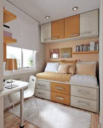 Bedroom Design Bed Placement Bedroom Orange And Creamy Beautiful Interior Table Study