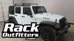 thule jeep wrangler jeep wrangler unlimited 4 door willys with thule 300r rapid gutter