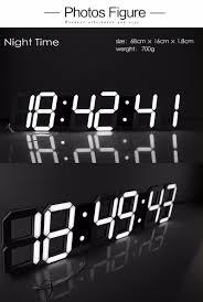 new large modern 3d jumbo led digital wall clock remote control new large modern 3d jumbo led digital wall clock remote control alarm stopwatch thermometer countdown calendar