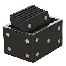 amazon com black and white dice drink u0026 beer coasters coasters