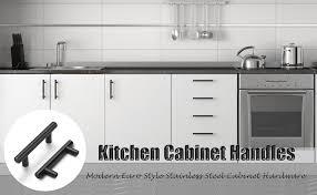 black pulls for white kitchen cabinets probrico 5 pack 2 1 2 inch center to center black bar cabinet pull modern cabinet hardware kitchen cabinet t bar handle dresser knobs set