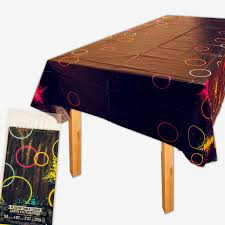 party table covers glow party plastic table cover