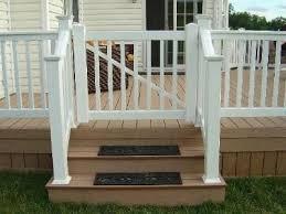 vinyl deck railing gate unique shaped decoration fence