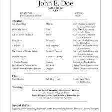 George Washington Resume 10 Acting Resume Templates Free Samples Examples Formats