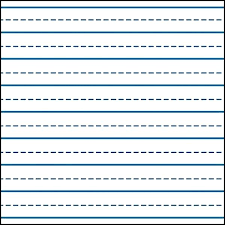 printable wide lined handwriting paper printable wide ruled paper template