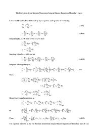the derivation of von kármán momentum balance equation of boundary