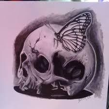 skull and butterfly by fbatman666 on deviantart
