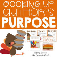 cooking up author s purpose thanksgiving style by gannon