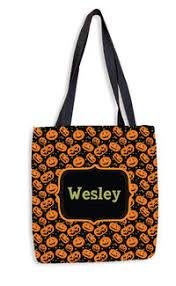 personalized kids halloween treat bags