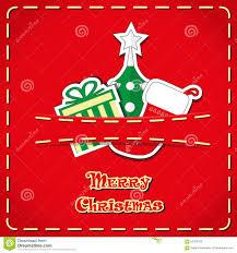 vector banner cute figurines santa sock christmas tree gift box