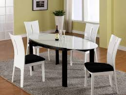 White Modern Rug by Dining Room 3 Fabulous Modern Dining Table Combining Oval