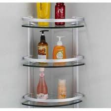 3 layer corner glass shelves for bathroom in pakistan in pakistan