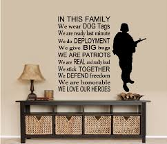 in this family we wear dog tags military two decals zoom