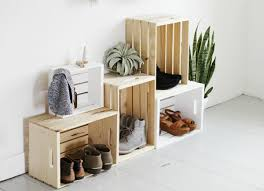 stack crates for entryway storage cool dorm rooms 17 design