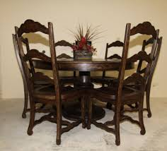 Tuscan Dining Room Table Round Pedestal Table And Chairs Write Teens