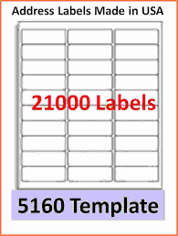 5160 label template 5160 label template address labels template