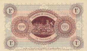 chambre de commerce haute garonne billets de nécessité 1914 1918 toulouse haute garonne