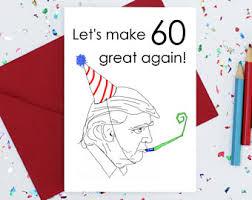 60 Birthday Cards 60th Birthday Card Etsy