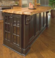 Kitchen Island With Butcher Block by Kitchen Island Classic Country Black Distressed Kitchen Island