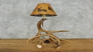 single antler lamp with deer shade youtube