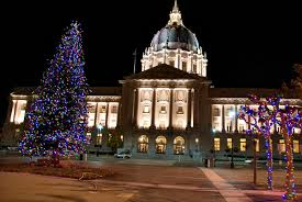 sf city hall lights the evolution of color in the lights of civic center s christmas