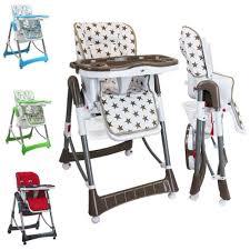 chaise pour bébé haute bébé pliable réglable hauteur dossier et tablette ptit
