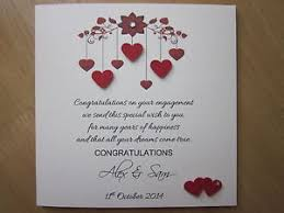 congratulations engagement card personalised handmade hearts with verse engagement card ebay