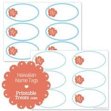 Printable Hawaiian Decorations Free Printable Hawaiian Name Tags The Template Can Also Be Used