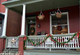 Handrail Christmas Decorations Christmas Front Porch Home Stories A To Z